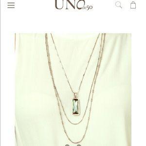 Uno de 50  three tier necklace